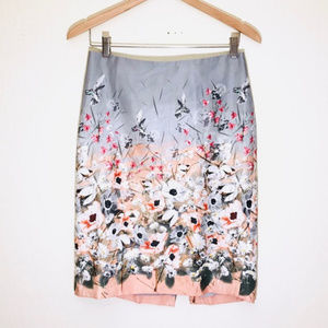 [Talbots] HummingBird Floral Flower Pencil Skirt